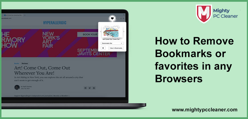 How to Remove Bookmarks or favorites in any Browsers