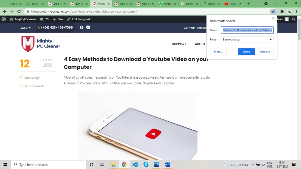remove bookmarks or favorites